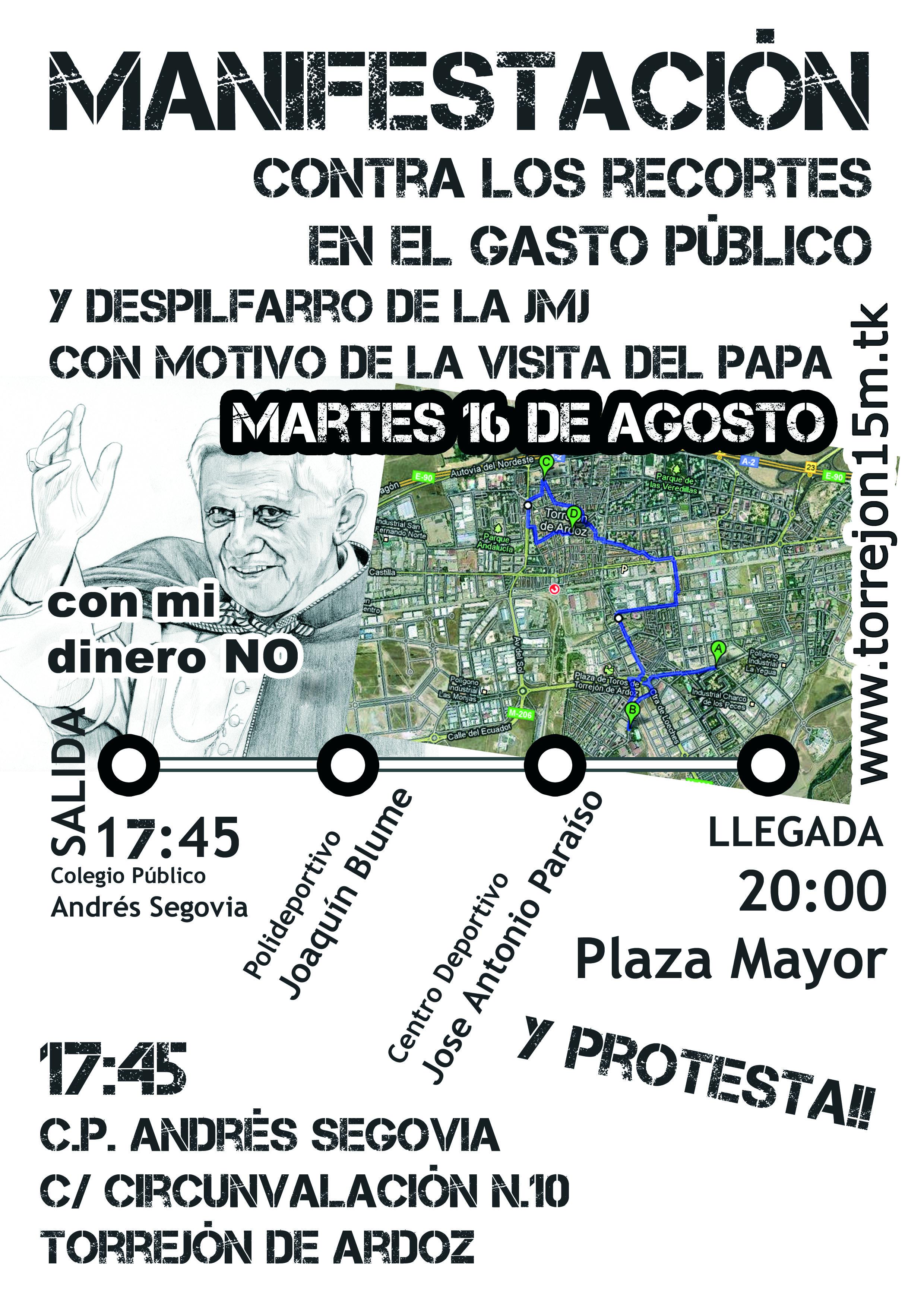 Manifestación martes 16 de agosto de 2011