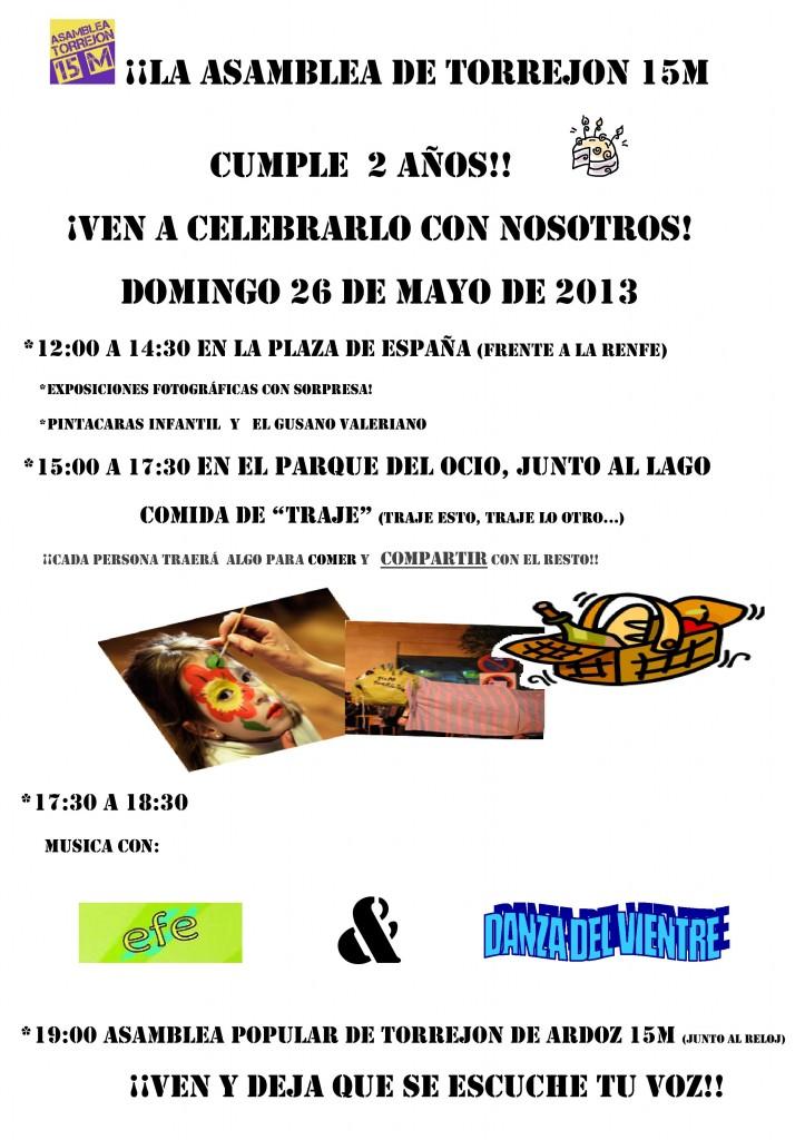 Cartel 2º Aniversario Asamblea Popular de Torrejón de Ardoz