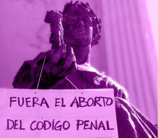 fuera el aborto del codigo penal